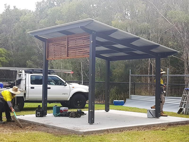 Brightwater Park Shelter builder