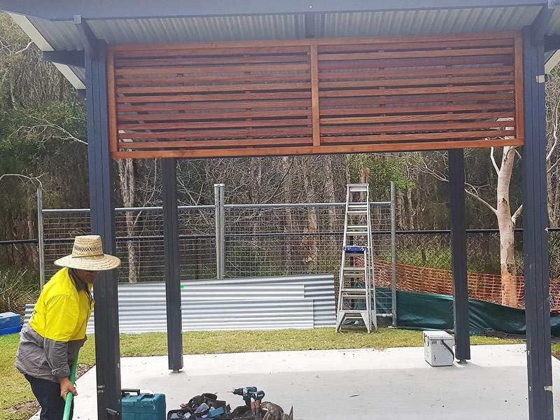 builder of park shelters Sunshine Coast